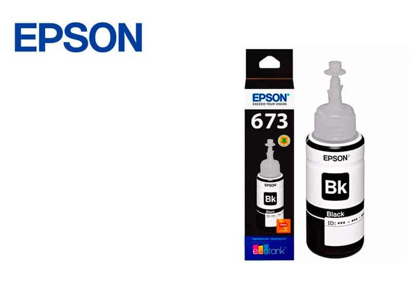 Botella de Tinta Epson T673120 Negro L800/L850/L1800