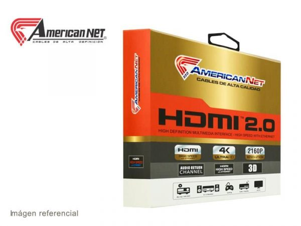 Cable AmericanNet HDMI a HDMI 1.8m c/Blister Professional Version 2.0