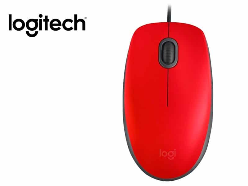 Mouse Logitech M110 Silent Red