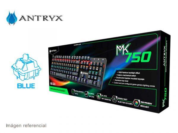 Teclado MK750 RGB Switch Blue (AMK-CS750KBL-SP)