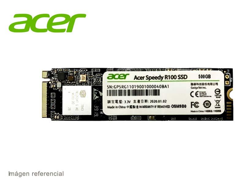 Disco Solido Interno M.2 2280 500GB Acer R100 NVMe PCIe SSD