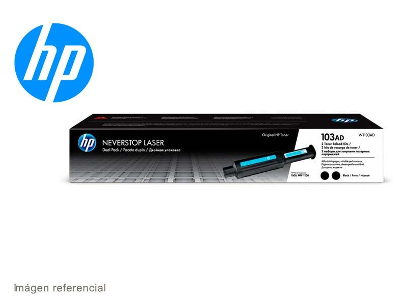 Toner HP 103AD W1103AD Dual Pack  Negro Recarga para NV1000/1200