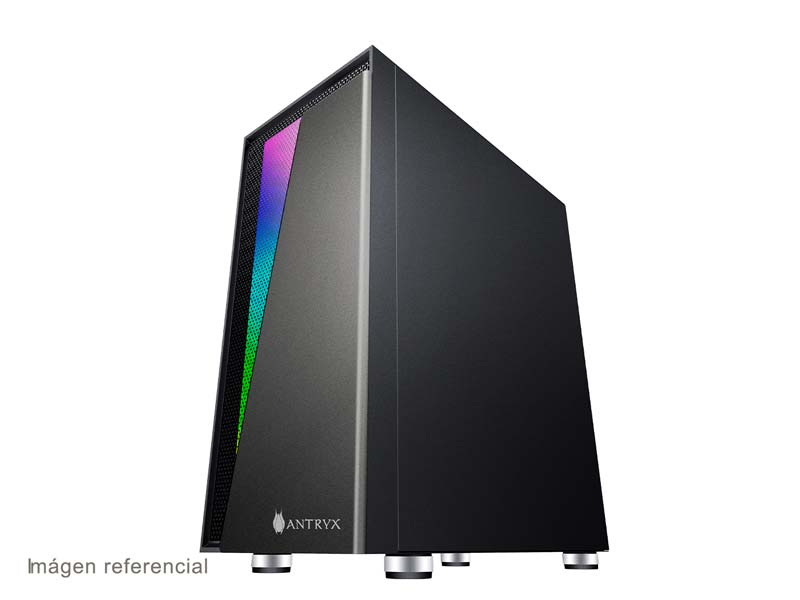 Case Antryx RX-450 + Fuente B600W-Vidrio Templado (AC-RX450K-600CP)