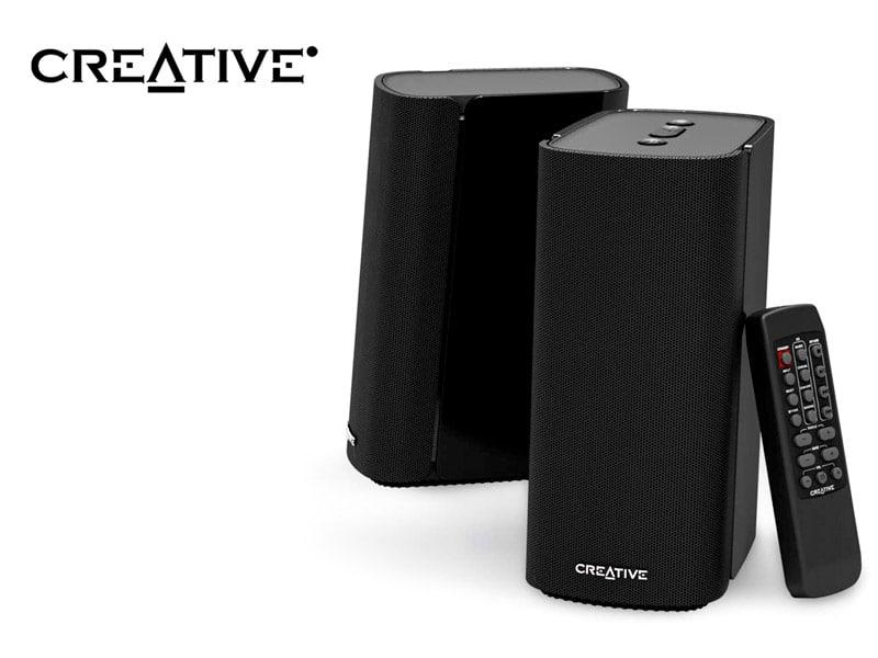 Parlante Creative PREMIUM T100 Hi-Fi 2.0  80watts Bluetooth 5.0  Black