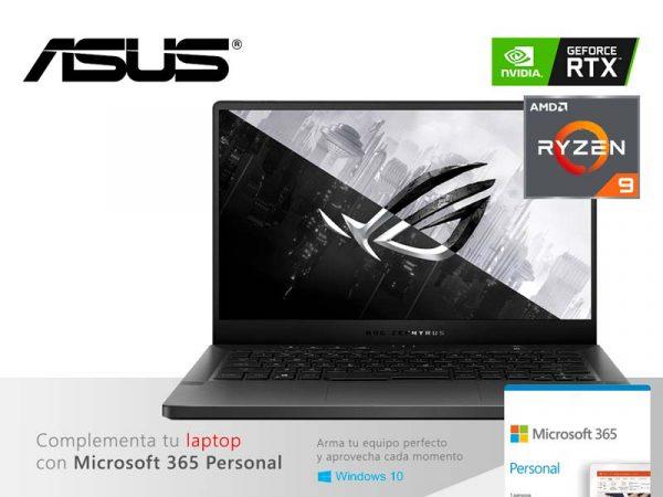 "Laptop ASUS Gaming ROG Zephyrus Ryzen 9-4900HS 16GB/1TB M.2/V6GB RTX2060/14"""