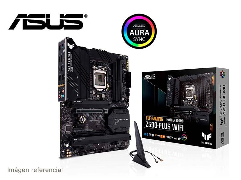 Placa ASUS TUF Gaming Z590-Plus (Wi-Fi) Intel LGA1200 DDR4 USB 3.2 ATX