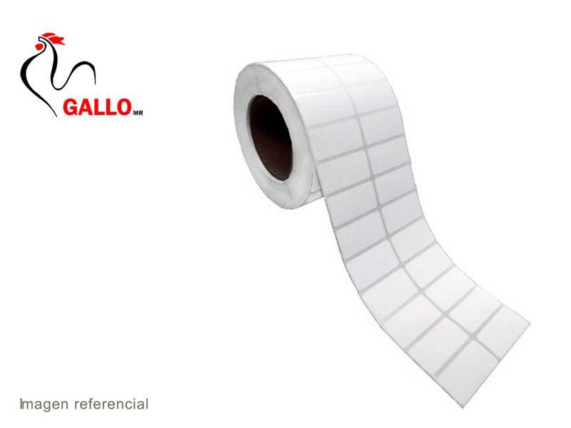 ETIQUETAS DE PAPEL 2″X1″ 2COL C1 X 3,000 (50x25mm)