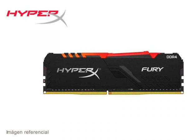 Memoria DDR4 HyperX Fury 2666MHz 32GB RGB (HX426C16FB3A/32) Black