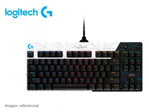 Teclado Gaming Logitech Pro K/DA GX Blue RGB Lightsync