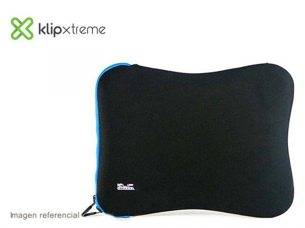 "Funda Klip Xtreme Sleeve para Laptop 15.6"" Reversible Black/Blue (KNS-115BL)"