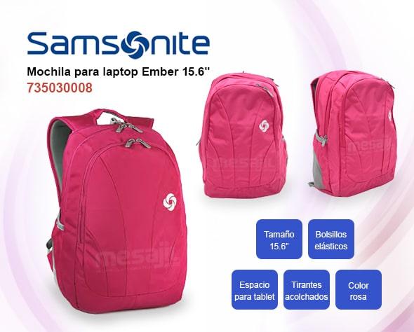 "Mochila Samsonite Ember de 15.6"" Rose"
