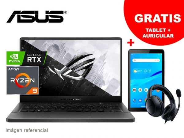 "Laptop ASUS GA401IV-HA381T AMD R9-4900HS 16GB/1TB/V6G/14""/W10h"
