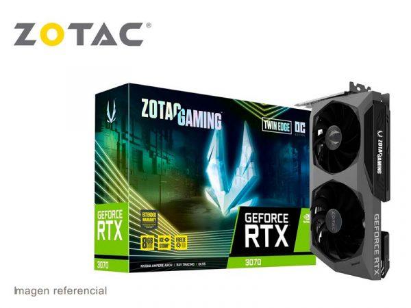 Tarjeta Grafica Zotac NVIDIA GeForce RTX 3070 Twin Edge 8GB GDDR6