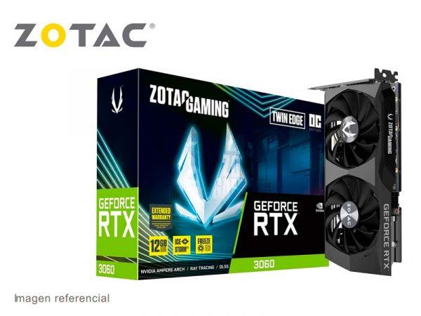Tarjeta Grafica Zotac NVIDIA GeForce RTX 3060 Twin Edge